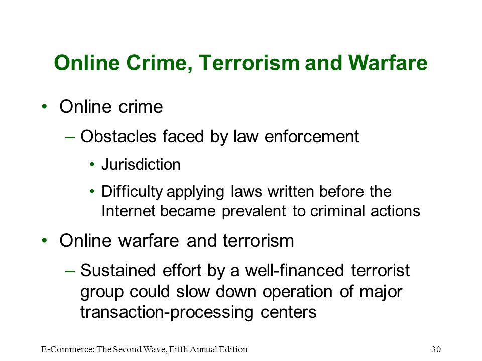 Online Crime, Terrorism and Warfare