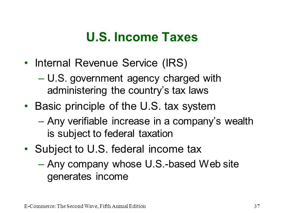 U.S. Income Taxes Internal Revenue Service (IRS)