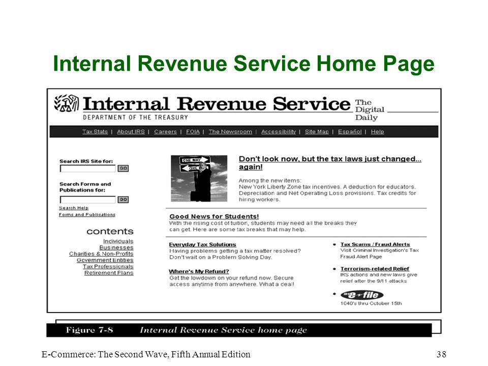 Internal Revenue Service Home Page