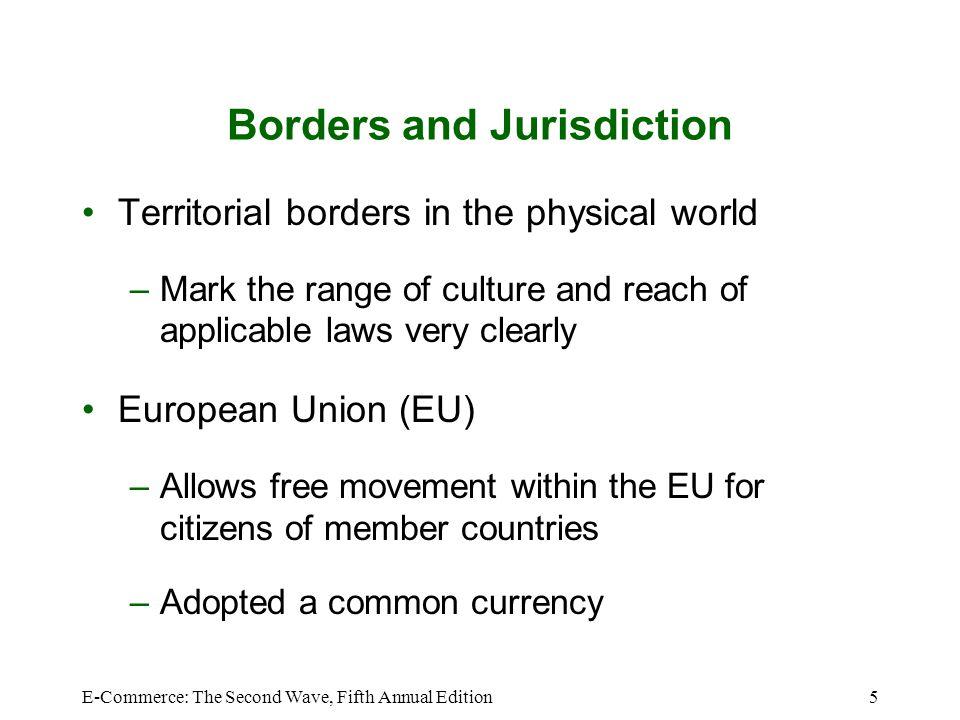 Borders and Jurisdiction