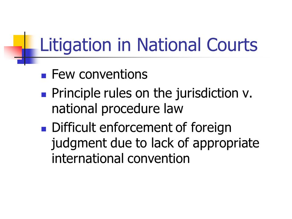 Litigation in National Courts