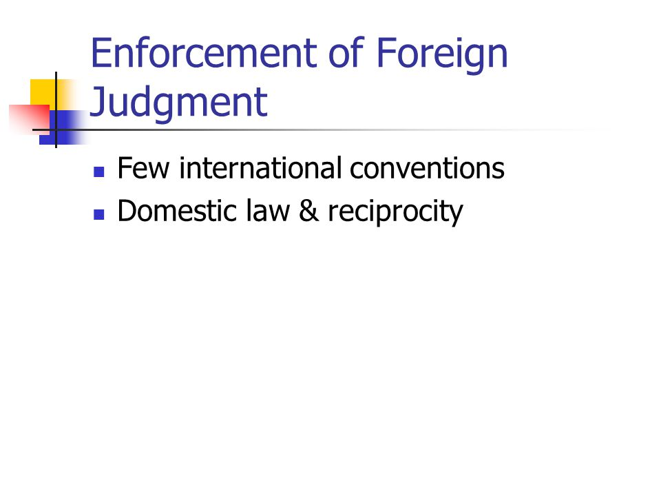 Enforcement of Foreign Judgment