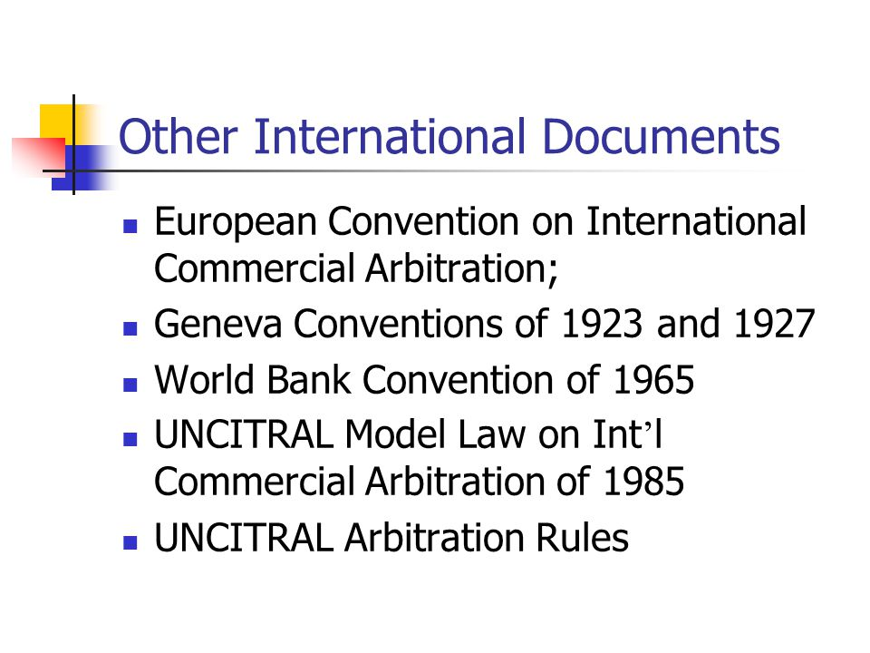 Other International Documents