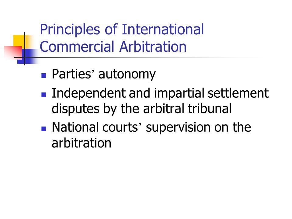 Principles of International Commercial Arbitration