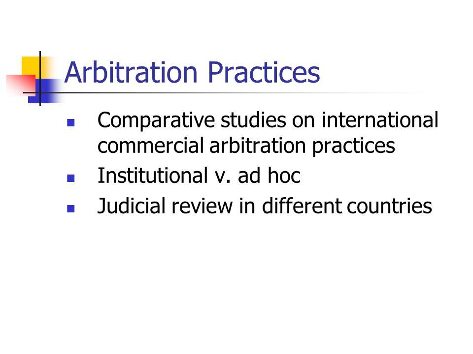 Arbitration Practices