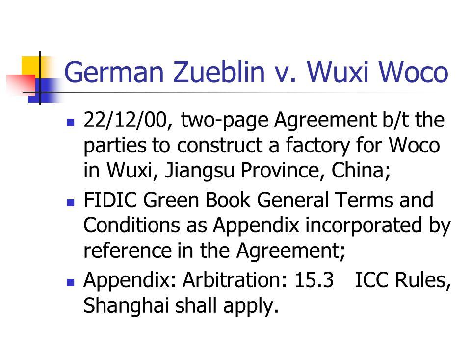 German Zueblin v. Wuxi Woco
