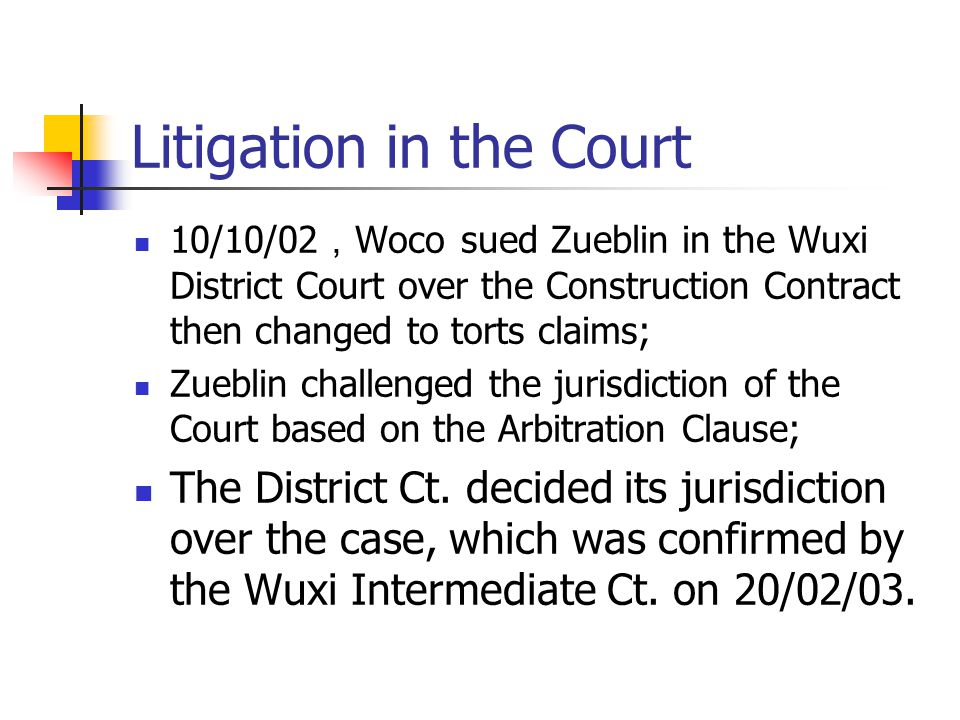 Litigation in the Court