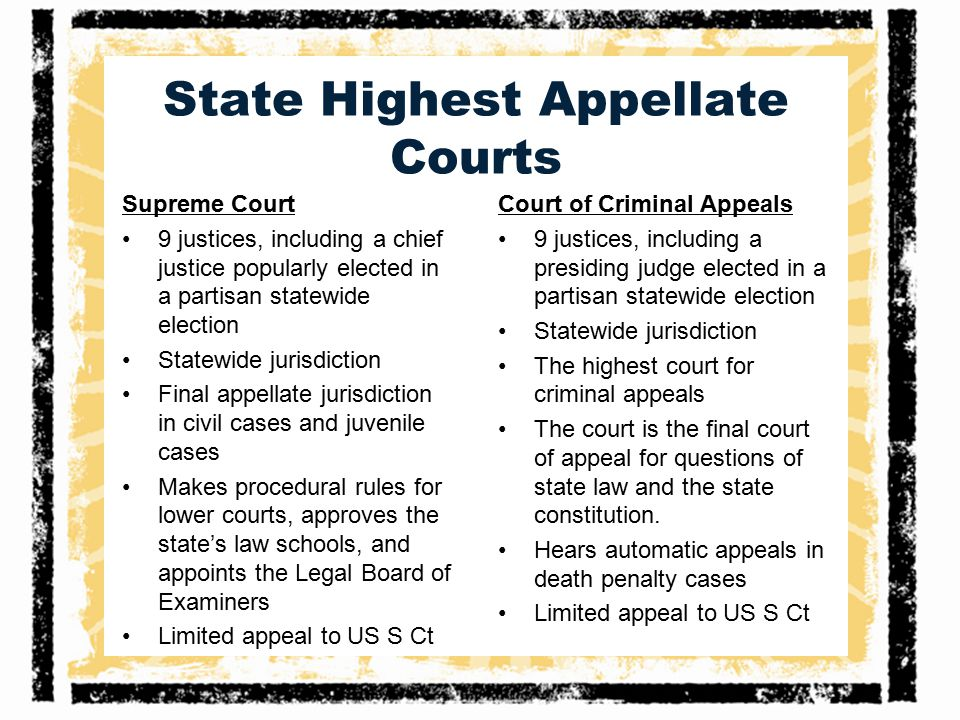 State Highest Appellate Courts