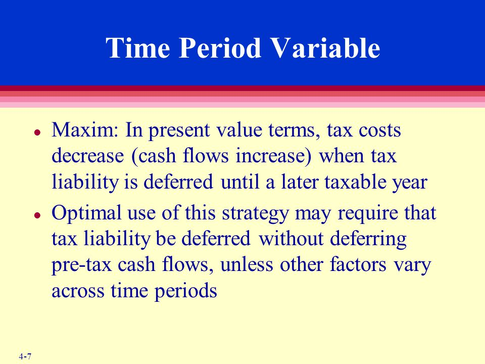 ACC 2460 – Chapter 4 Time Period Variable.
