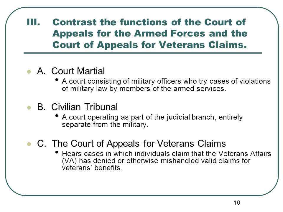 C. The Court of Appeals for Veterans Claims