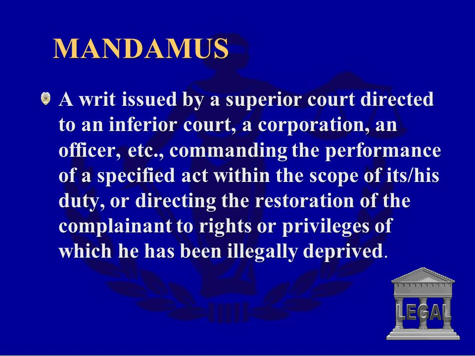 MANDAMUS