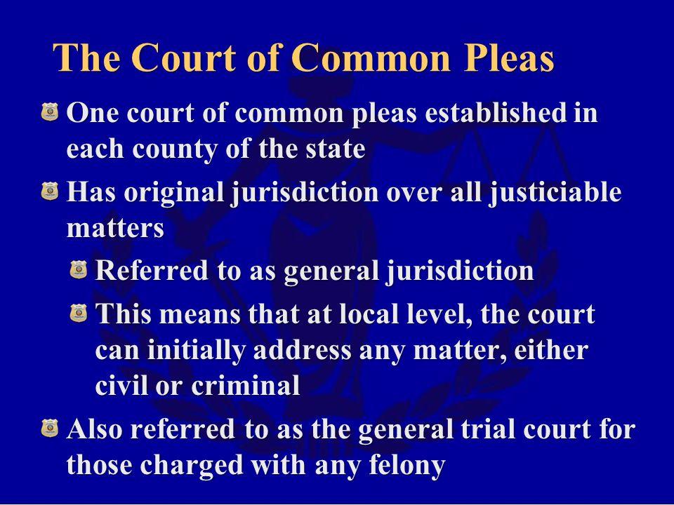 The Court of Common Pleas