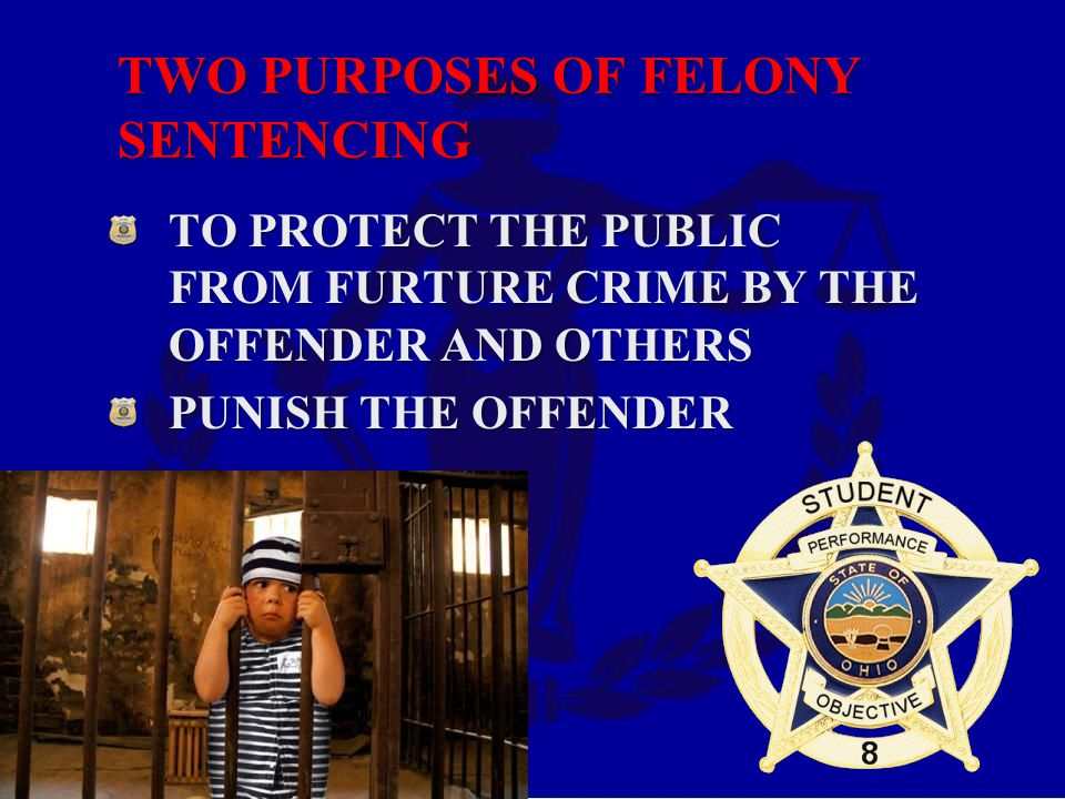 TWO PURPOSES OF FELONY SENTENCING