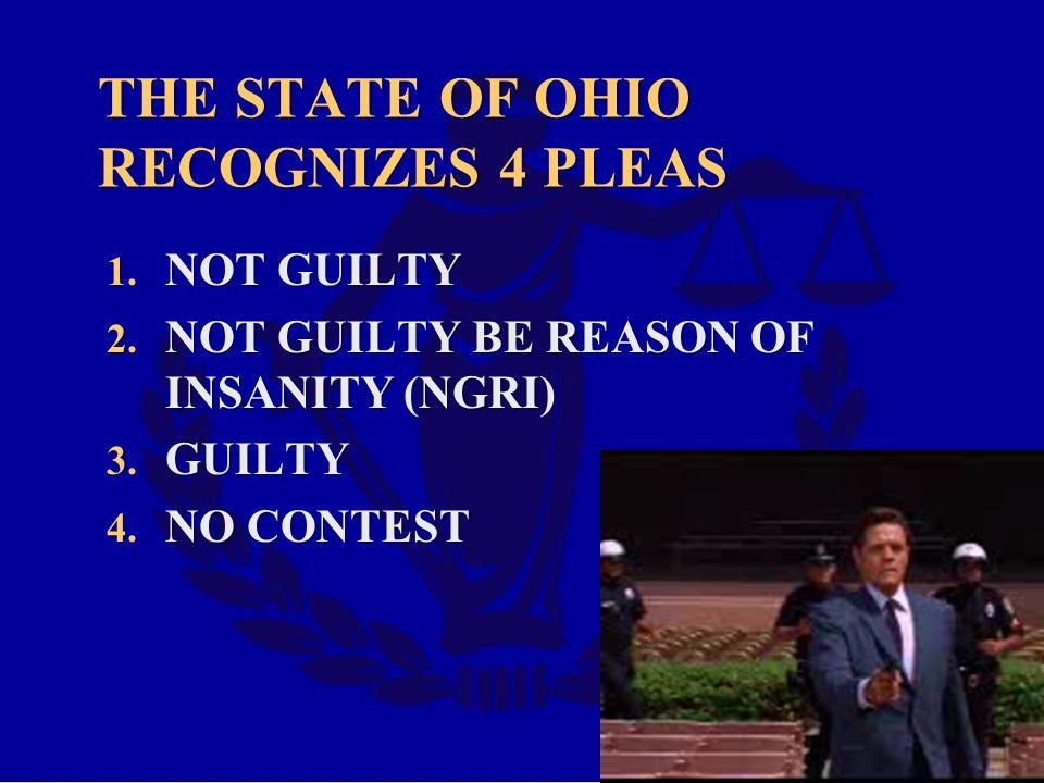 THE STATE OF OHIO RECOGNIZES 4 PLEAS