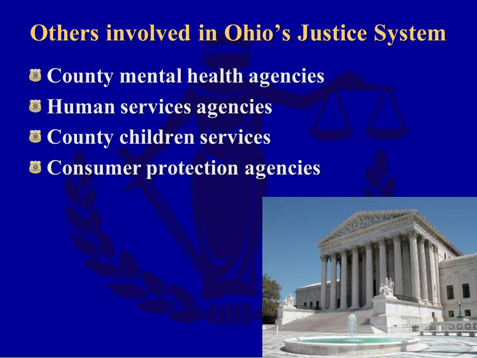Others involved in Ohio's Justice System