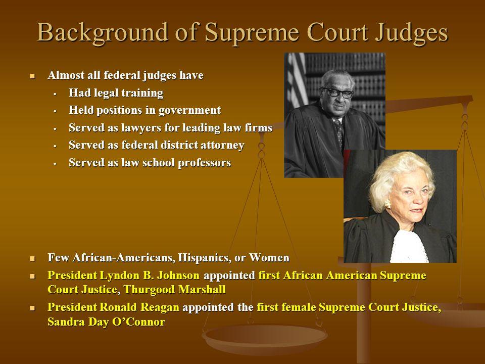 Background of Supreme Court Judges