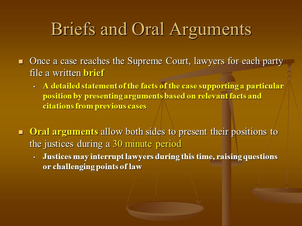 Briefs and Oral Arguments