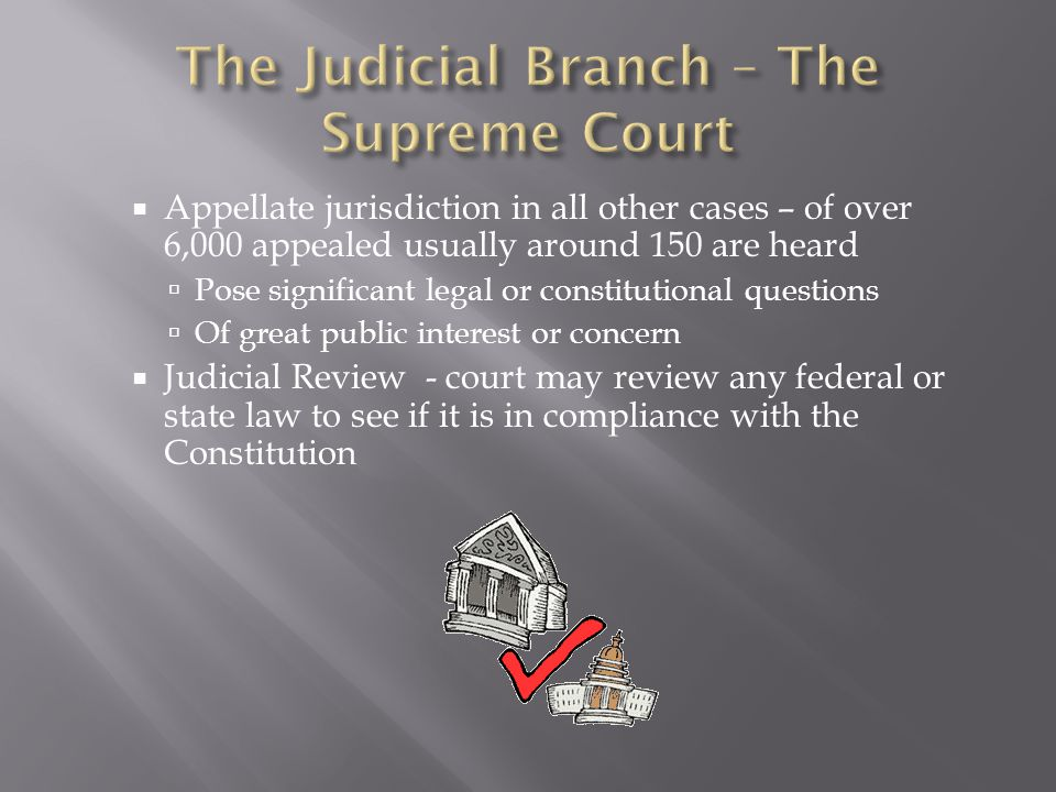 The Judicial Branch – The Supreme Court