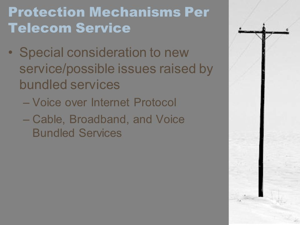 Protection Mechanisms Per Telecom Service
