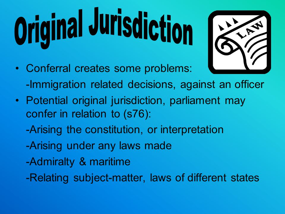 Original Jurisdiction