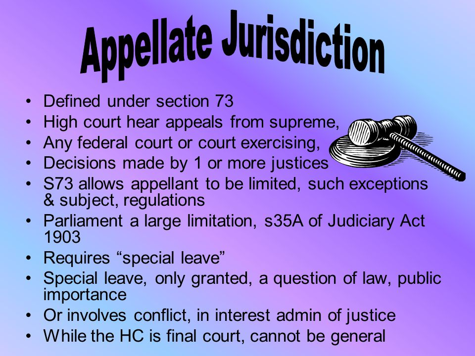 Appellate Jurisdiction