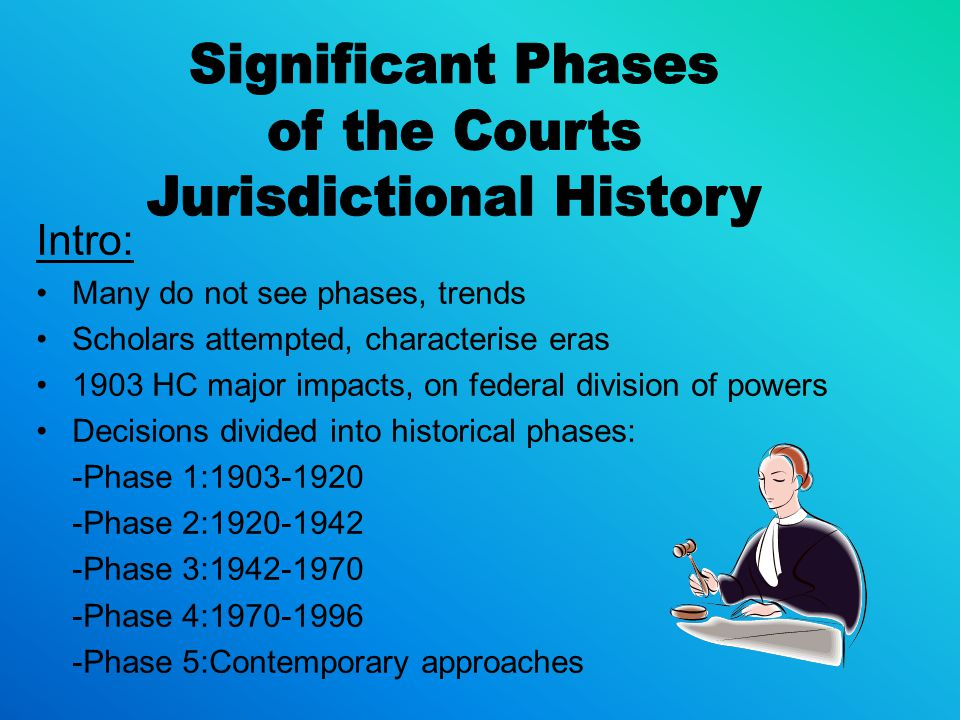 Jurisdictional History
