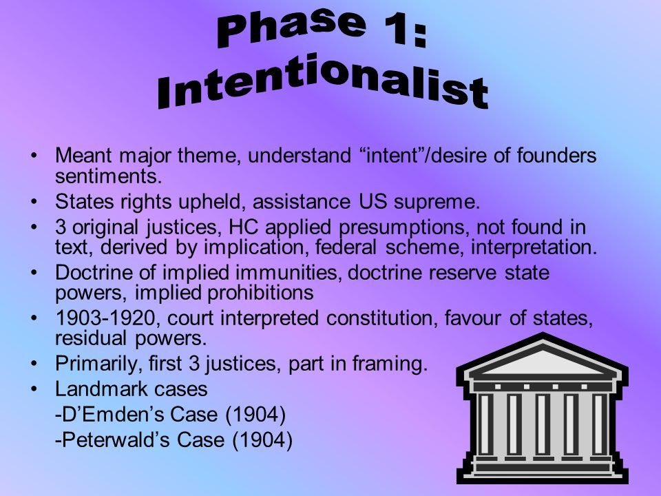 Phase 1: Intentionalist