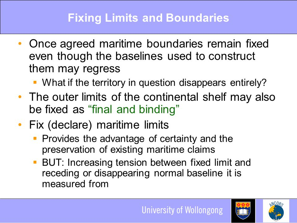 Fixing Limits and Boundaries