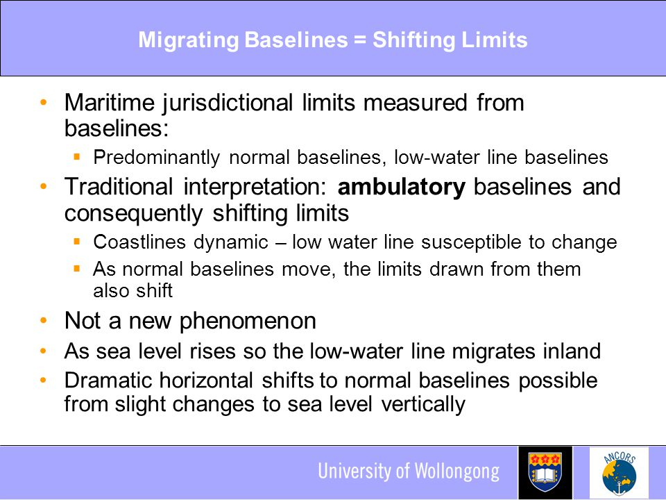 Migrating Baselines = Shifting Limits