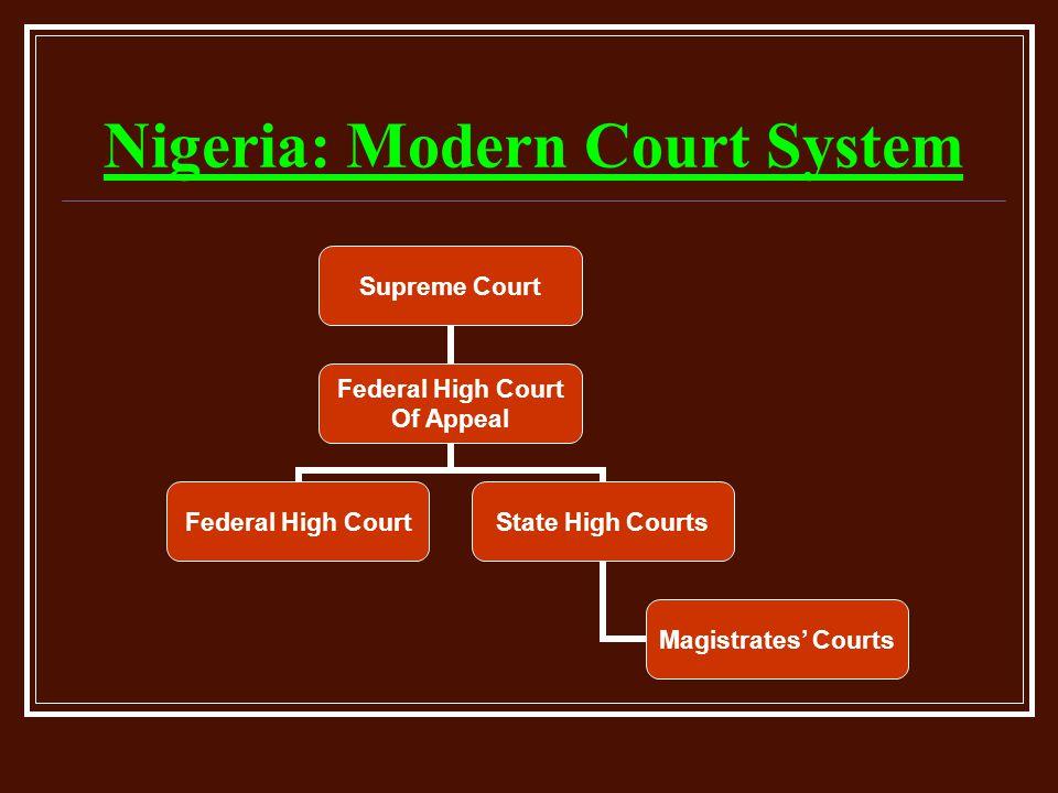 Nigeria: Modern Court System