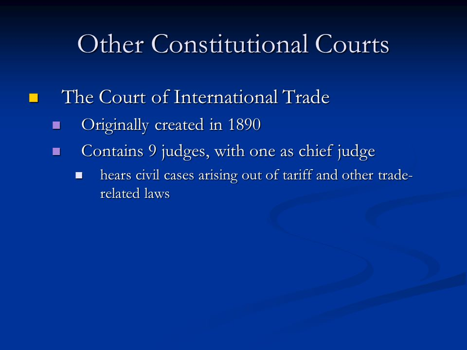 Other Constitutional Courts