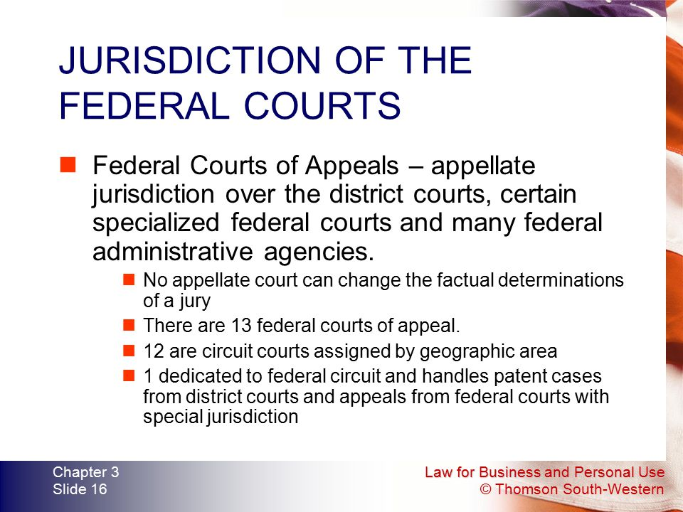 JURISDICTION OF THE FEDERAL COURTS