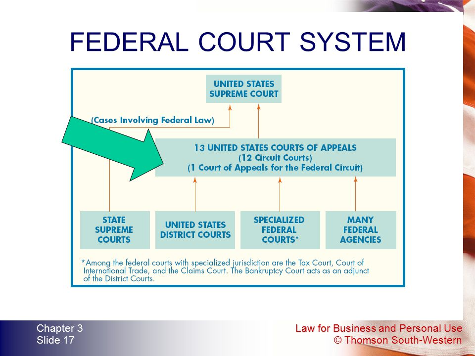 FEDERAL COURT SYSTEM Chapter 3