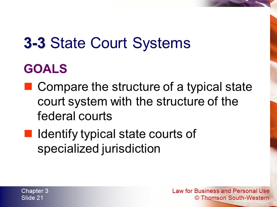 3-3 State Court Systems GOALS