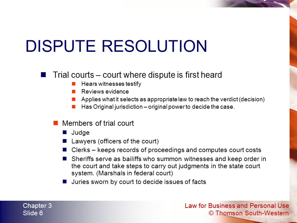 dispute resolution and court Dispute resolution is the process of  both parties have the right to appeal the judgment to a higher court judicial dispute resolution is typically adversarial in.