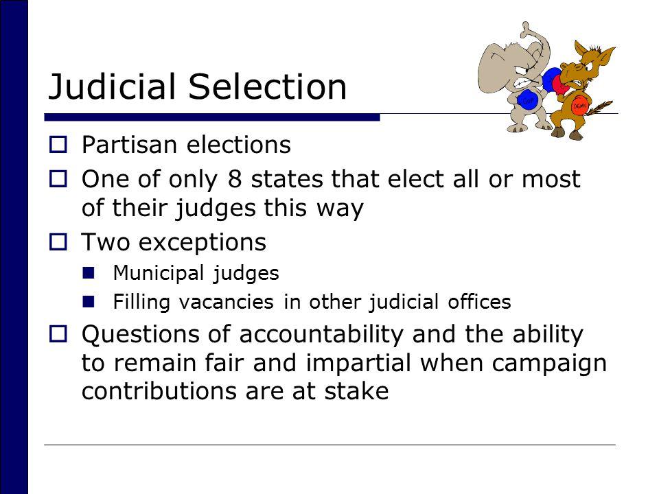 Judicial Selection Partisan elections