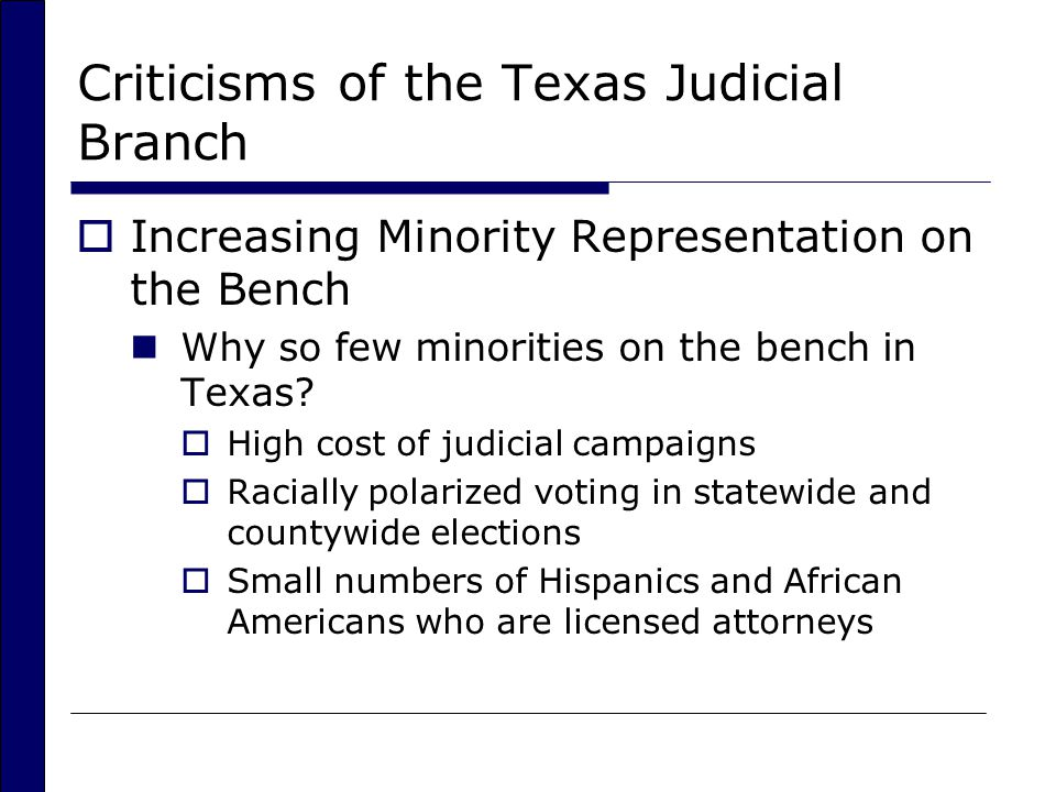Criticisms of the Texas Judicial Branch