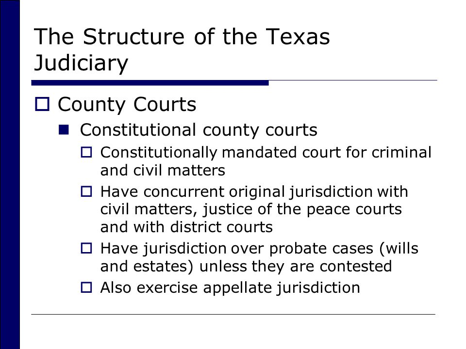 The Structure of the Texas Judiciary