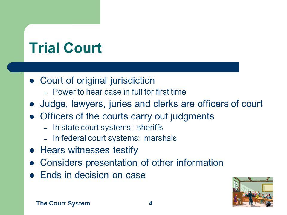 Trial Court Court of original jurisdiction