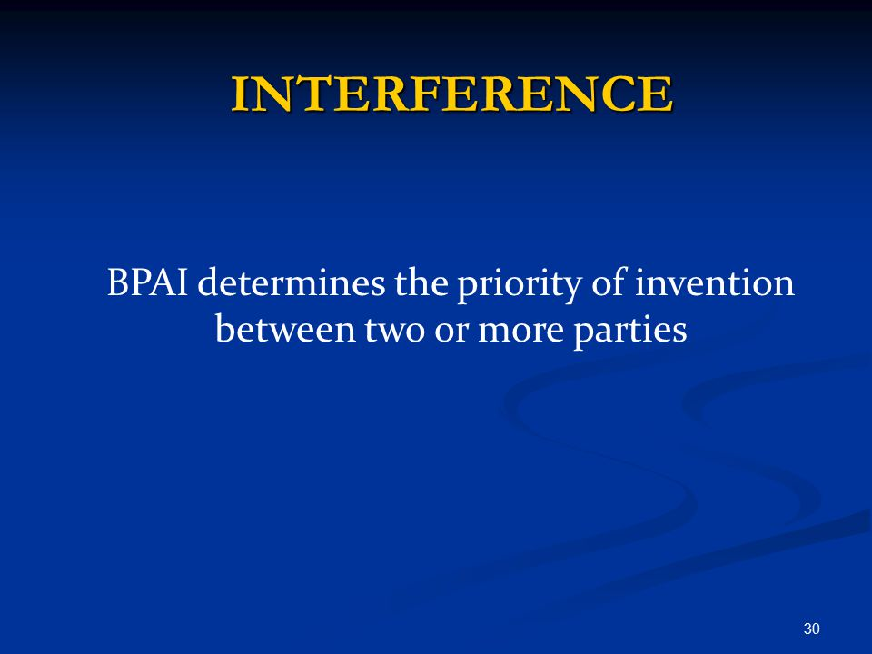 BPAI determines the priority of invention between two or more parties