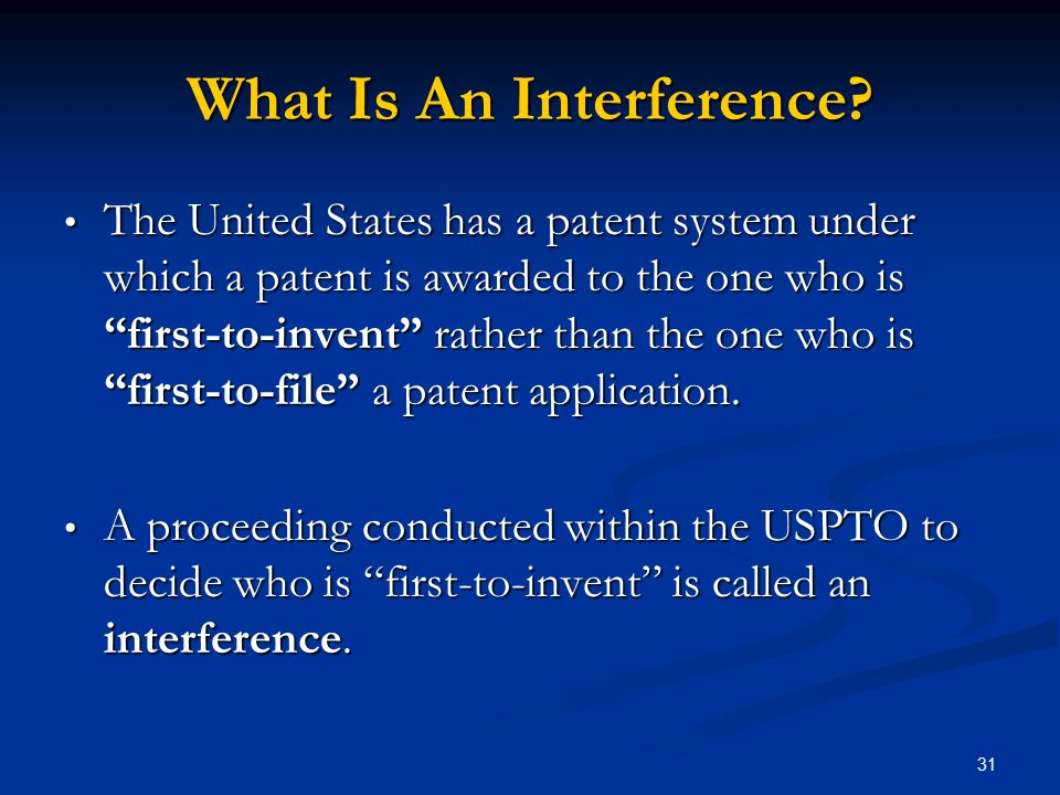 What Is An Interference