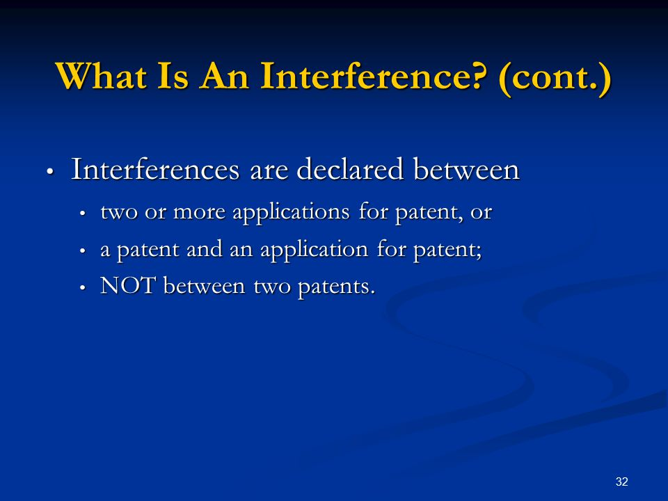 What Is An Interference (cont.)