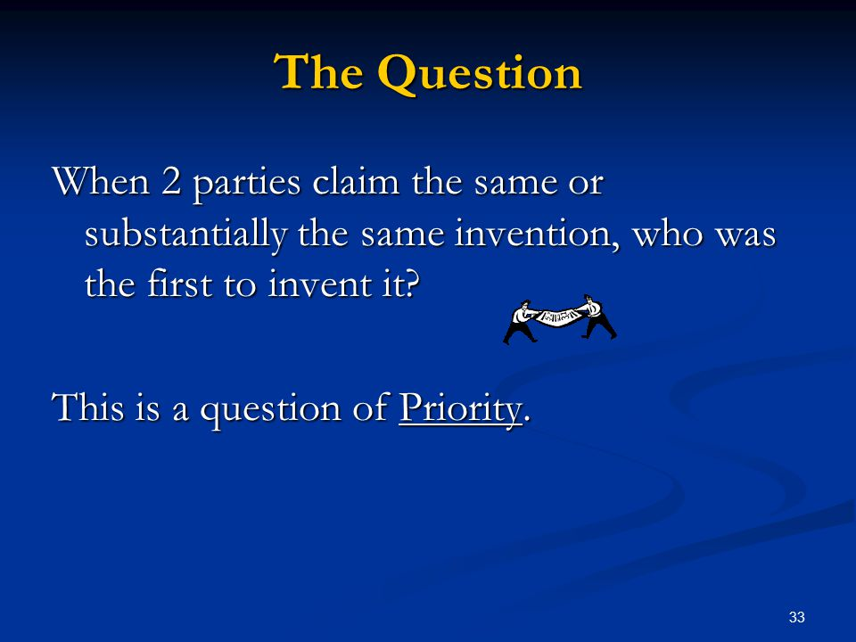 The Question When 2 parties claim the same or substantially the same invention, who was the first to invent it