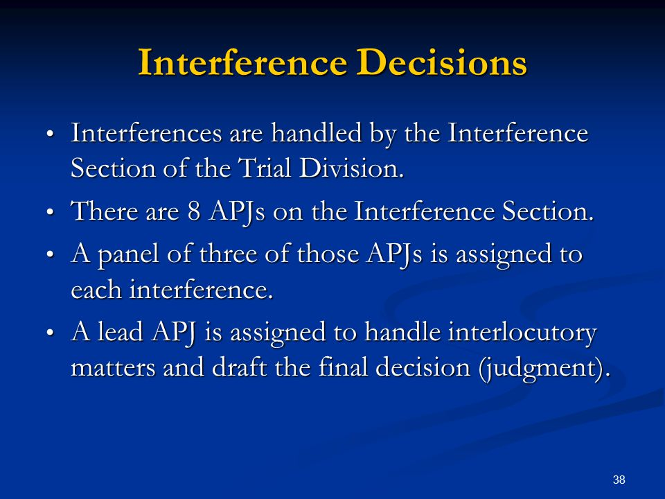 Interference Decisions