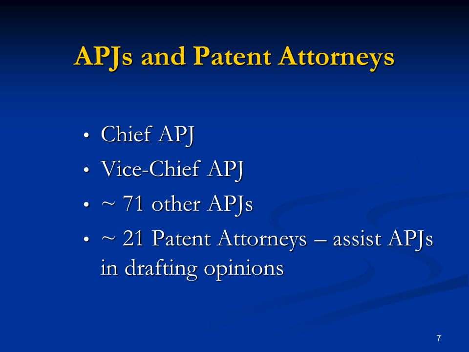 APJs and Patent Attorneys