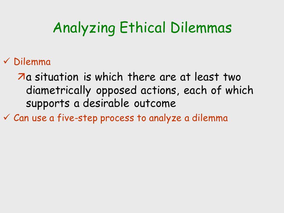 Analyzing Ethical Dilemmas