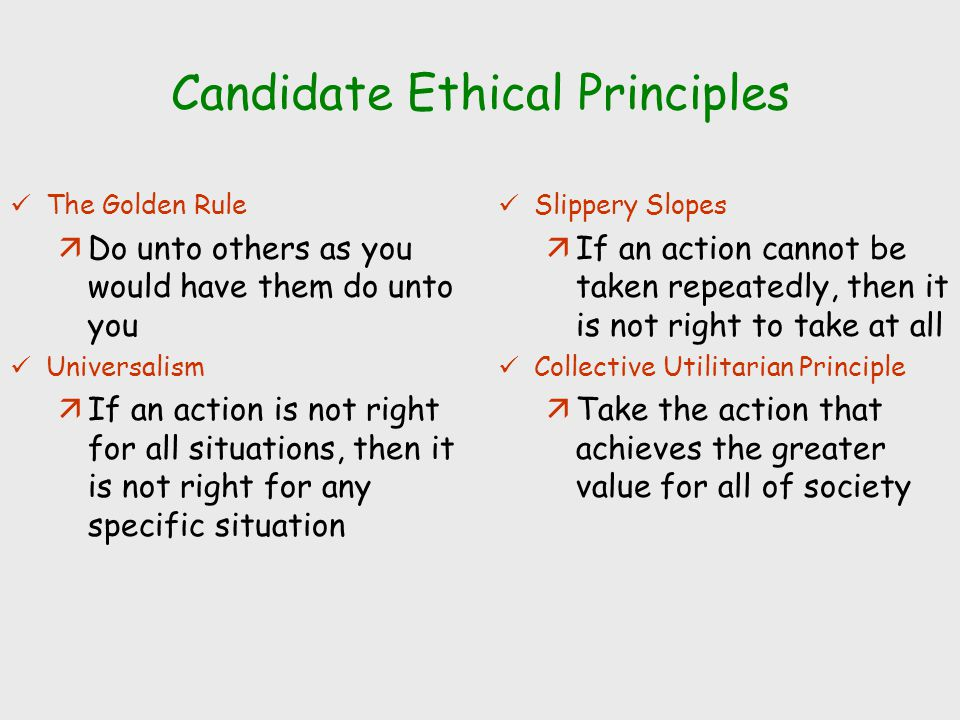 candidate ethical principles The code of ethics states the principles and expectations governing behavior of individuals and recipients of or candidates for iia professional.