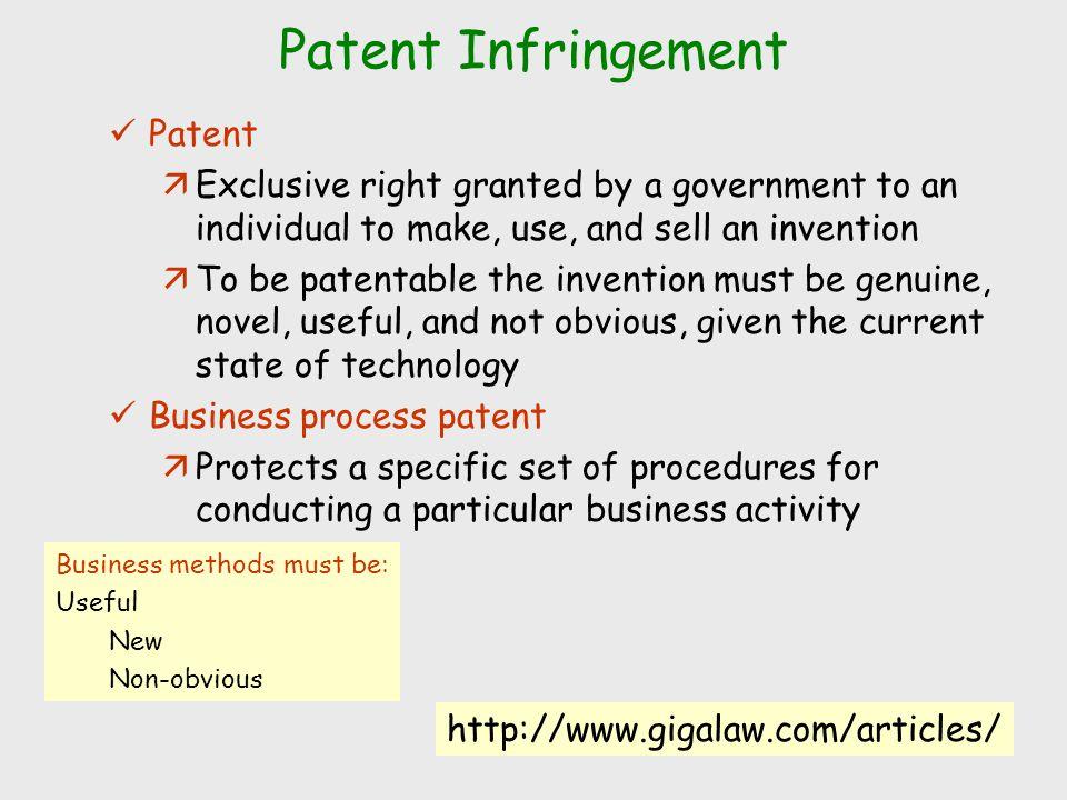 Patent Infringement Patent