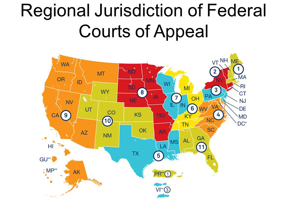 Regional Jurisdiction of Federal Courts of Appeal
