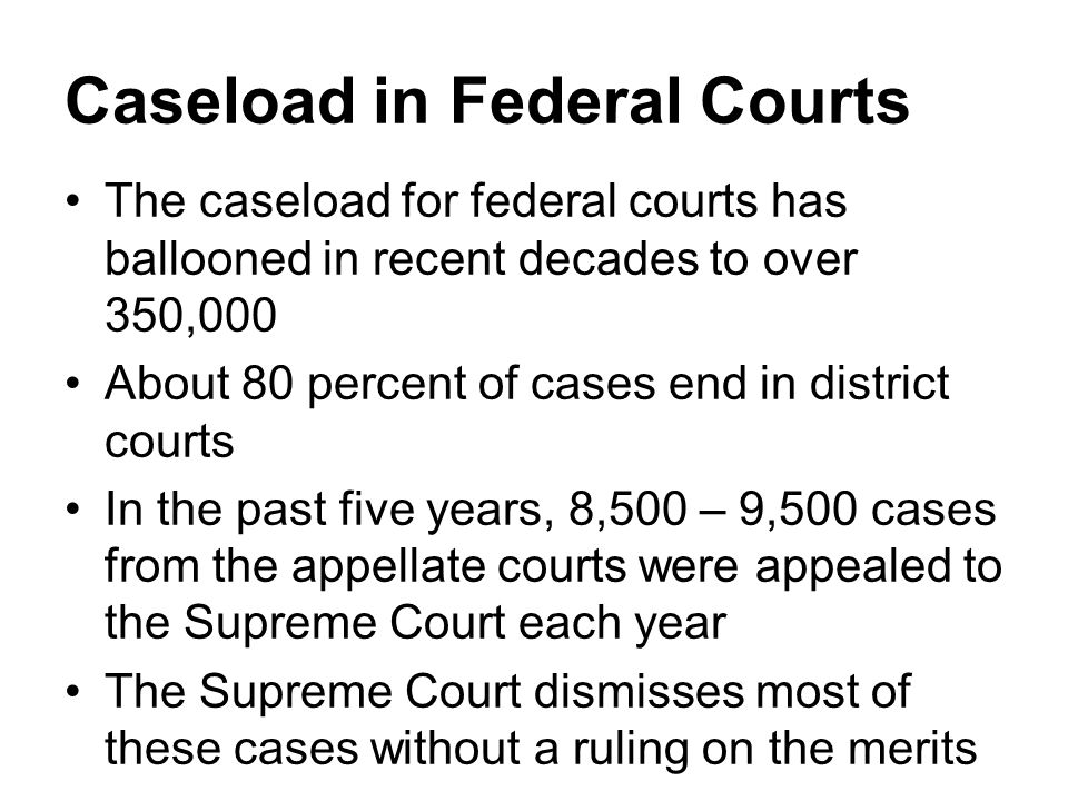Caseload in Federal Courts